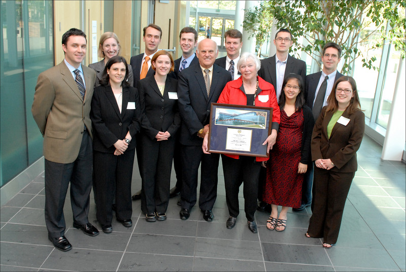 Judge & Mrs. Coughenour with a host of former clerks and colleagues.
