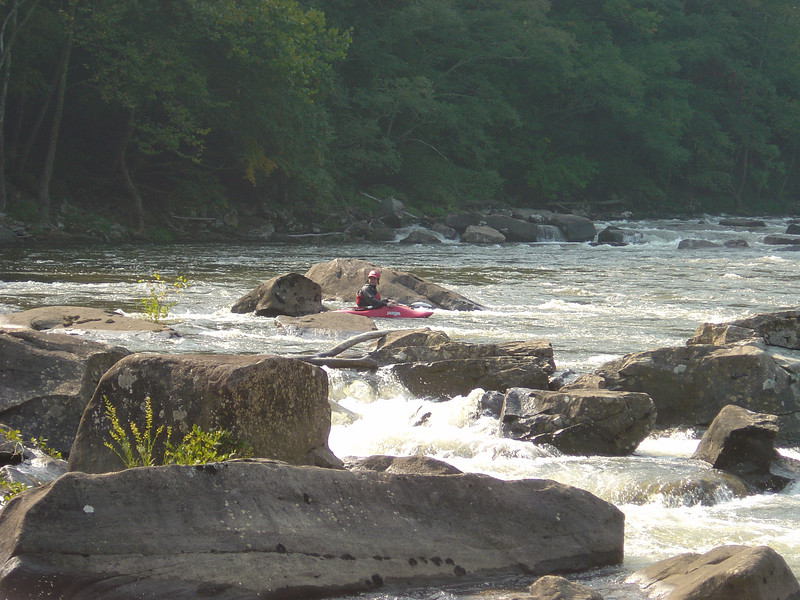 The calm before the storm - taking a breather on the Lower Gauley