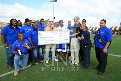 Phi Beta Sigma donates a check at the UNCP Homecoming Game in Pembroke, NC on October 6th, 2007 webber_0119.JPG