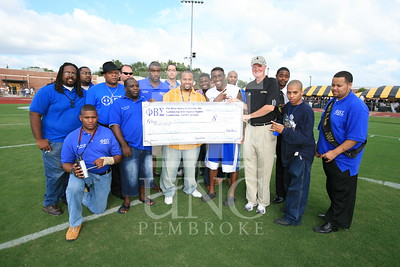 Phi Beta Sigma donates a check at the UNCP Homecoming Game in Pembroke, NC on October 6th, 2007 webber_0114.JPG