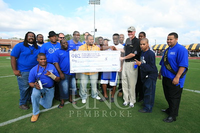 Phi Beta Sigma donates a check at the UNCP Homecoming Game in Pembroke, NC on October 6th, 2007 webber_0120.JPG