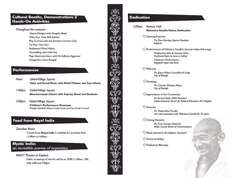 Event Program from Exploris 2