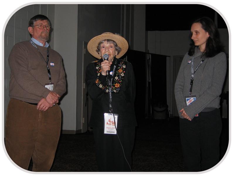 20070415 'Granny D', her son James, and filmmaker Marlo Poras after 'Run Granny Run' scrng