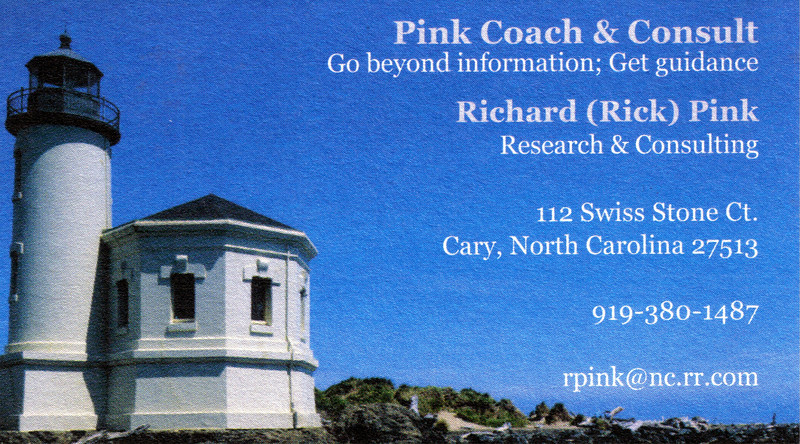 Business Card - Rick Pink