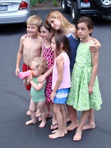All the cousins: Nicholas, Beverly, Alana, Jaden, Mikala, and Cassandra