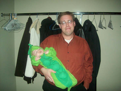 Ron with baby Ian submitted by Ron Mills