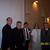L-R:  Fr. Ed Fride, Bishop Carlson, Bernie Coppolino, Marian Moll and John Moll