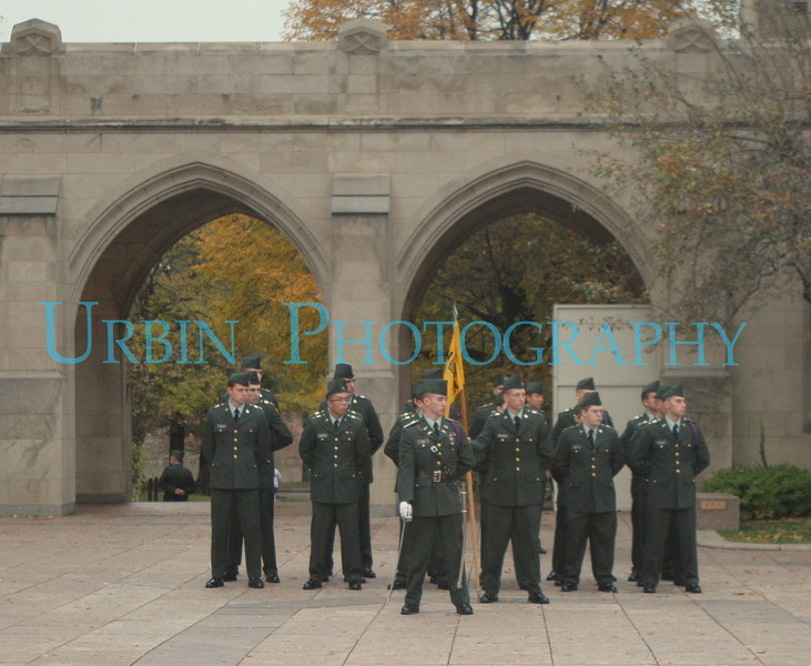 US Army ROTC Cadets in Formation