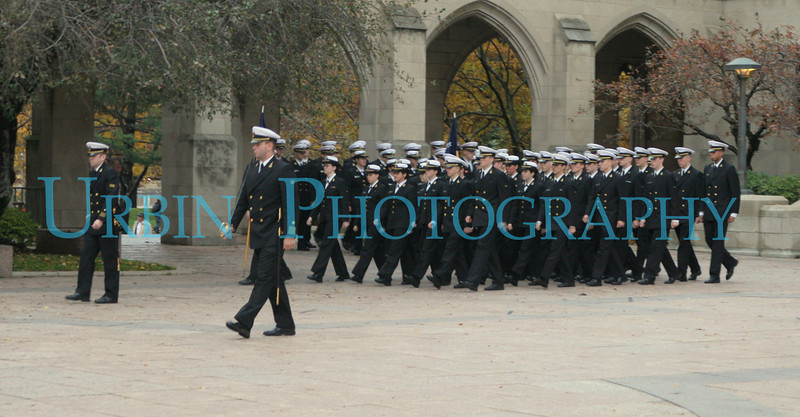 The NROTC cadets arriving.