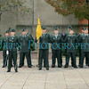 Some of the Army ROTC cadets in formation.