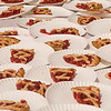 Record-Eagle/Douglas Tesner<br /> <br /> Slices of cherry pie sit on a table waiting for the beginning for the Sara Lee Bakery Kids Cherry Eating Contest to begin.