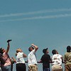 Record-Eagle/Tyler Sipe<br /> Spectators watch the AeroShell Aerobatic Team during Saturday afternoon's National Cherry Festival Air Show.