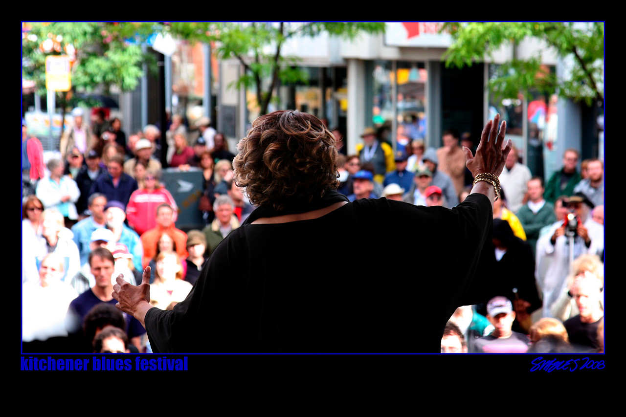 """Mavis Staples Calling on The Sun<br /> 2008 Kitchener Blues Festival<br /> Kitchener, Ontario<br /> This is available as a Limited Edition 20""""x30"""" Print<br /> Please contact me for details."""