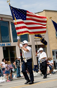 Members of several local veterans groups led the parade during Coon Creek Country Days in Hampshire on Sunday, August 3.