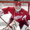 Record-Eagle/Jan-Michael Stump<br /> Red Wings goaltender Chris Osgood works out in training camp.