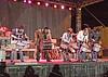 The Ricochet drum line of Kenny, Greg, Dawayne, Troy, and Heath.