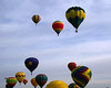 Balloons fill the sky over Roswell, NM