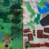 Two collages by students