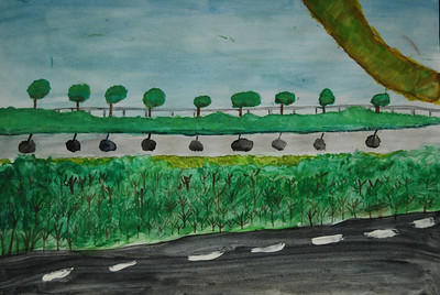 Sohini's landscape in watercolour
