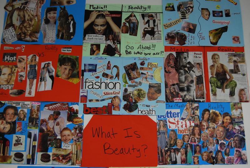Students' artworks in Sohini's classroom