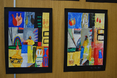 Paintings done by students