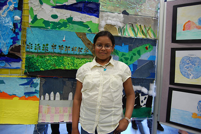 Sohini at the art exhibtion