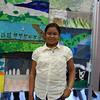 Sohini at the art exhibtion