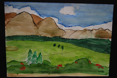 A watercolour by a student