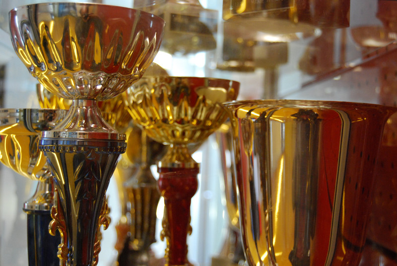 Talents on show - cups and trophies won by ILL students