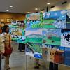 Maitreyee and Sohini examine the artworks