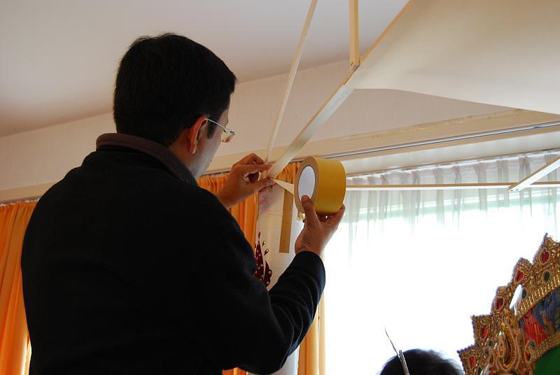 Durga Puja preparations 2008