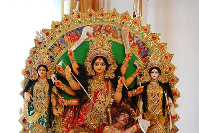 Durga Puja preparations 2008