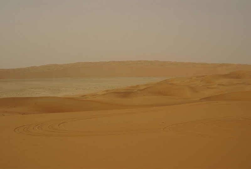 The red dunes of the Liwa desert, out by the Empty Quarter.