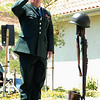 Sgt.Jerry Watkins (retired)(Carpinteria) salutes the Fallen Soldier Memorial at the 2008 Memorial Day Service, Camarillo, Ca.  He served in the 173th Airborne Brigade