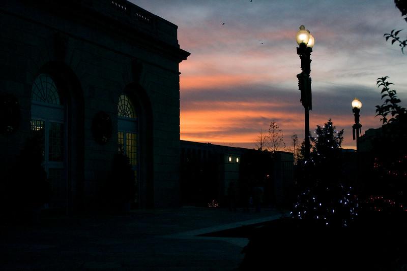 Thursday, November 27, 2008 sunset at the Botanical Garden in DC.