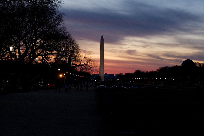 Thursday, November 27, 2008 the mall at sunset in DC.