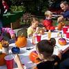 Kida love to paint pumpkins