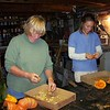 Rita and Barb busy at seed saving.