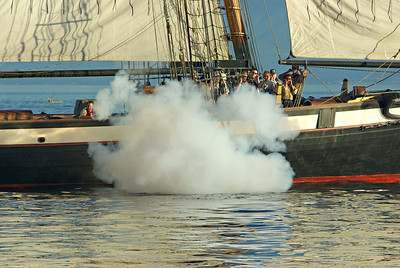 The Lynx fires her cannons