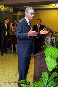 Metro Courthouse mezzanine reception on the occasion of the retirement of Davidson County Fifth Circuit Court Judge Walter Kurtz and his elevation to senior judge status---Senior Judge Walter Kurtz.