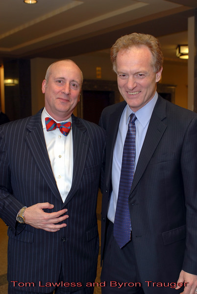 Metro Courthouse mezzanine reception on the occasion of the retirement of Davidson County Fifth Circuit Court Judge Walter Kurtz and his elevation to senior judge status---Tom Lawless and Byron Trauger