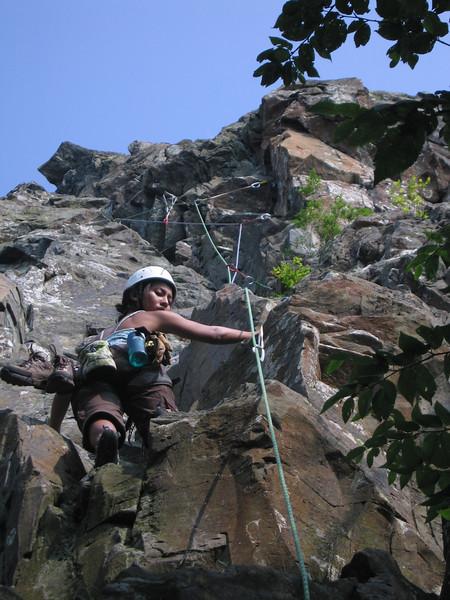 "Last climb of the day, ""Flatiron Right"""