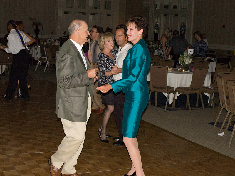 Carol LaBeau, Channel 10 News Anchor, dances with her husband
