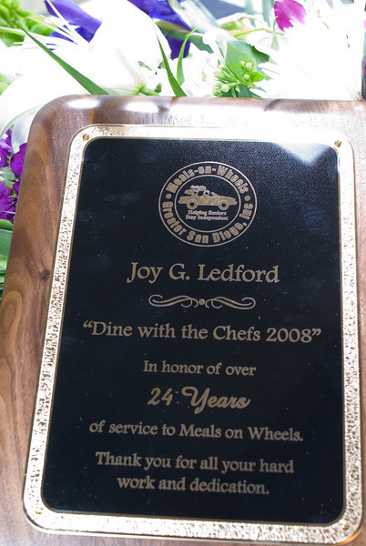 Honoring Joy Ledford for 24 years of service and dedication to Meals on Wheels.  <br /> <br /> Thank you Joy for making a difference in so many lives.