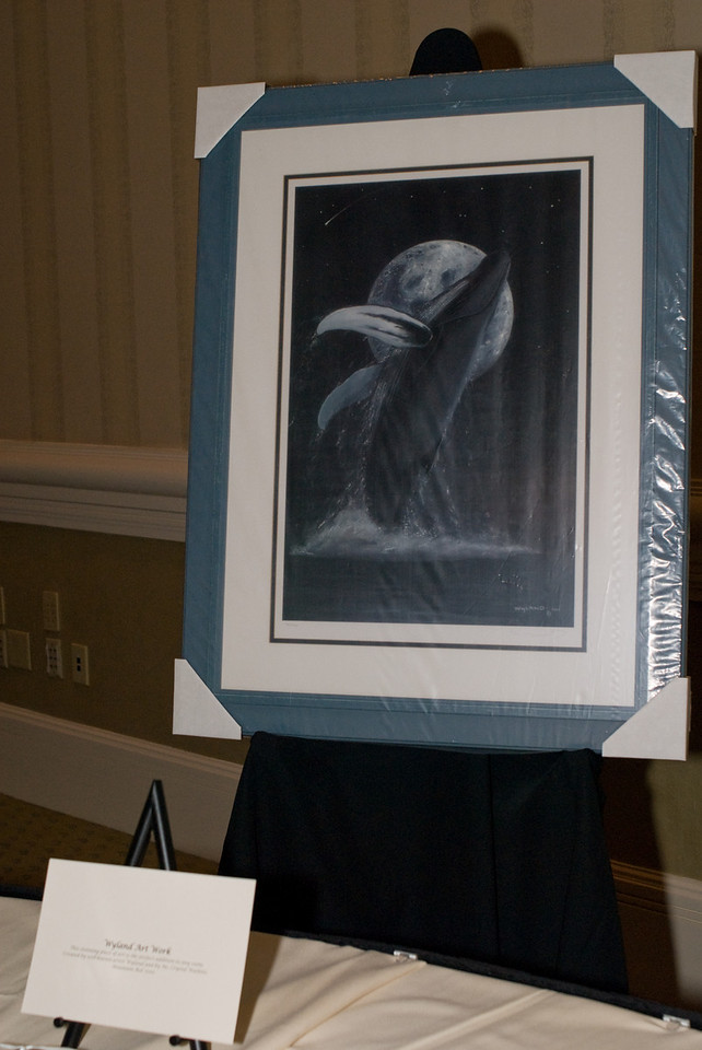 Wyland Donates Whale print to the Auction