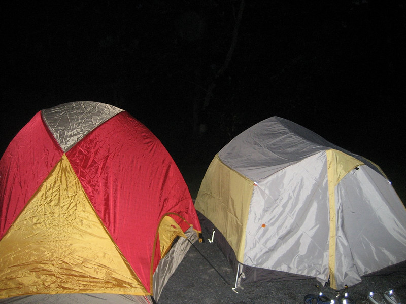 We set up our tents...