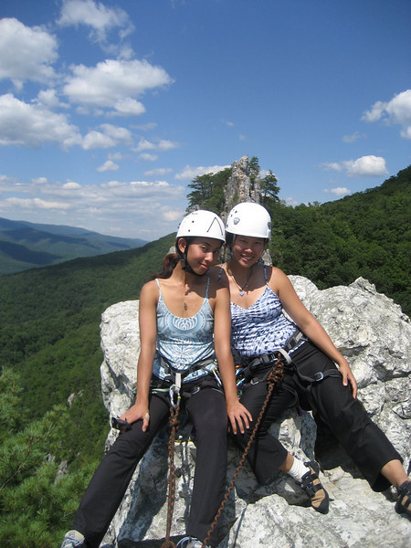 Lav and I kickin it back on the peak