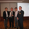 Jae Young Lee '93, Greg Volk, Young Mok Kim '88, Andrew McPheeters