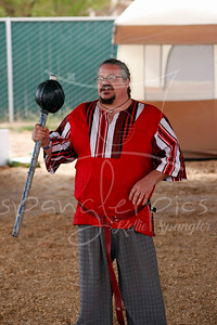 """Patrick the Butcher explains the """"swords"""" used by the SCA Fighters"""