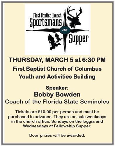 1st bapt sportsmans dinner